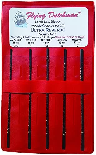 Flying Dutchman Ultra Reverse Scroll Saw Blade Variety Pack