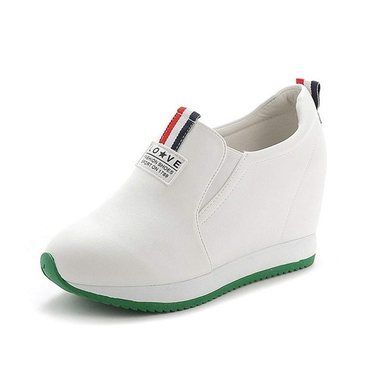 KPHY Damenschuhe Im Sommer Stieg 8Cm Aushöhlen Damenschuhe Weiße Schuhe Koreanischen Version Casual Schuhen Steigung Mit Einem Fußpedal Schuhe.