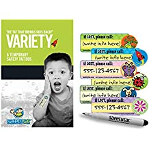 Quick Stick Write-on! Child ID Tattoos (Variety 6pk.)