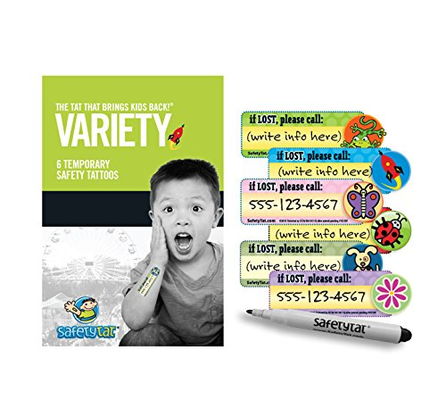Quick Stick Write-on! Child ID Tattoos (Variety 6pk.)]()