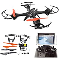 UDI U842 Predator Wifi FPV Remote Control Drone with Wifi HD Camera Live Vedio 2.4G 4CH 6 Axis Gyro RTF RC Quadcopter Low Voltage Alarm, Headless Mode Easy to Fly for Beginner