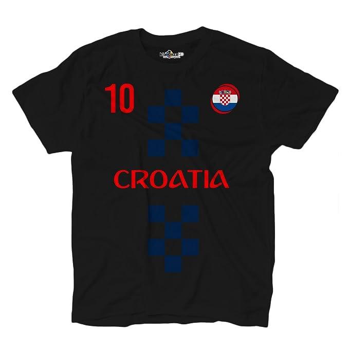 KiarenzaFD - Camiseta de la selección de fútbol de Croacia, número 10, Modric - Estilo ropa de calle: Amazon.es: Deportes y aire libre