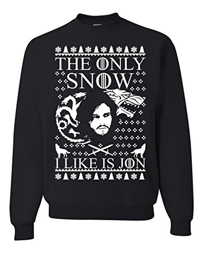 The Only Snow I Like Is Jon Ugly Christmas Sweater
