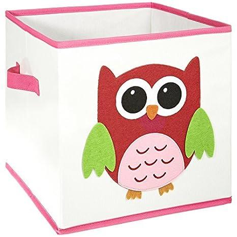 FABELBUNT® Caja para juguetes con diferentes motivos de animales y mucho espacio para almacenar (