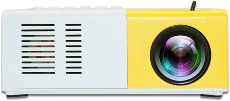 Ottimo Proiettore per far Giocare i Bambini e per Scopi Educativi con TV//AV//USB//HDMI Mini Proiettore,Proiettore Portatile 1080P LED per iPhone// Android// DVD// Laptop// TV Box 320*240