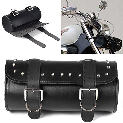 HOT SALE Roll Bag For Harley Motorcycle Scooter Front Forks Round Barrel Shape Bag Tool -