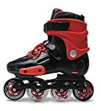 Inline Skates For Men Unisex Racing PP Material Aluminum CNC Stent PU Perfusion Wheel Red , 37