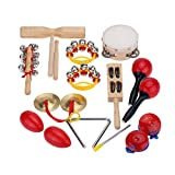Musical Instruments Best Deals - Andoer® Percussion Set Kids Children Toddlers Music Instruments Toys Band Rhythm Kit with Case