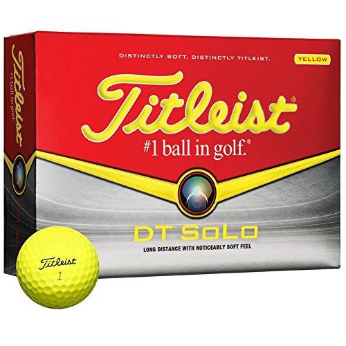 Titleist-DT-Solo-Golf-Balls-1-Dozen-Yellow