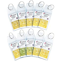 Home Team Products Durable PVC & Stainless Steel Cruise Luggage Tags, 10 Pack, Free Packing Checklist Included