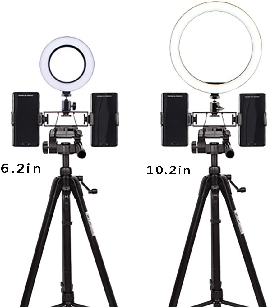 FGAITH Photography Mini Desktop 2 Position Fill Light Simple Ring led Fill Light self-Timer Mobile Phone Stand Makeup lamp Lighting Mirror Headlight Photography Light