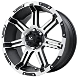 V-Rock Overdrive Matte Black Wheel with Machined Spoke and Lip (20x9''/5x5.5'')