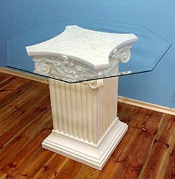 Walt-Deko Pilares de 1 Mesa con Tablero de Cristal lebensgroß 79 cm para Interior de polirresina: Amazon.es: Jardín