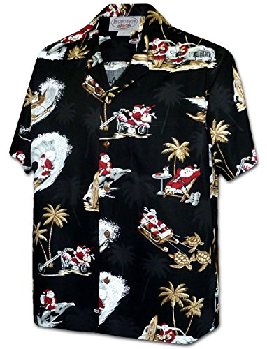 Tropcial Santa Men's Christmas Hawaiian Shirt