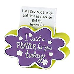 Office Desk Decorations I Said A Prayer For You Today Faith Builder Card Holder with 20 Cards Scripture Verses