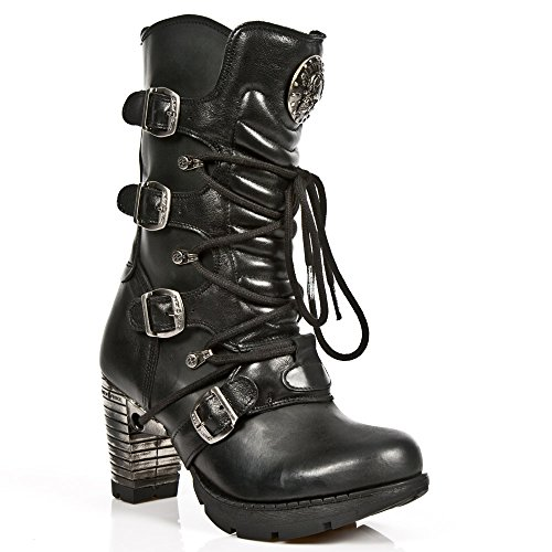 New Rock M.TR003-S1, Damen Stiefel, BLACK, BLACK