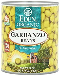 Eden Garbanzo Beans (Chick Peas), Organic, 29-Ounce (Pack of 6) by Eden