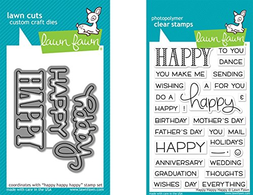 lawn-fawn-happy-happy-happy-clear-stamp-and-die-bundle-lf1334-lf1335-set-of-2-items