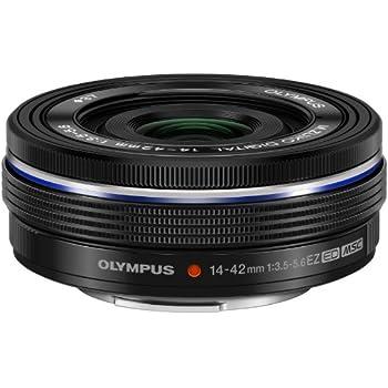 Olympus 14-42mm f3.5-5.6 EZ Interchangeable Lens for Olympus/Panasonic Micro 4/3 Digital Camera (Black)