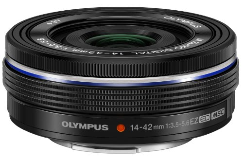 Olympus 14-42mm f3.5-5.6 EZ Interchangeable Lens for Olympus/Panasonic Micro 4/3 Digital Camera (Black)