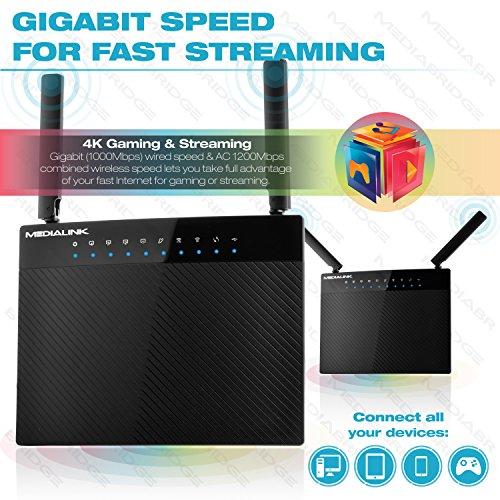 Medialink AC1200 Wireless Gigabit Router - Gigabit (1000 Mbps) Wired ...