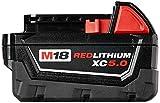 MILWAUKEE'S 48-11-1852 M18 REDLITHIUM XC 5.0 Ah