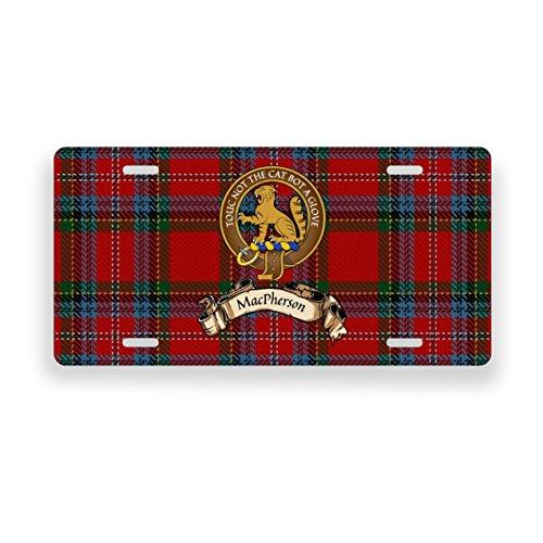 (MacPherson Scotland Clan Tartan Novelty Auto Plate)