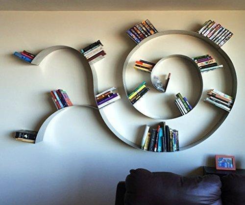 Trailing Spiral Floating Bookshelf