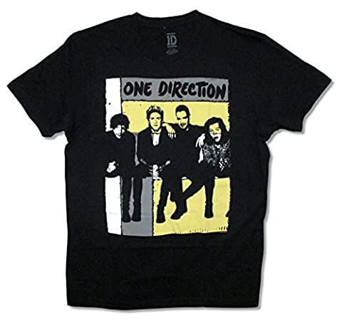 One Direction Group Roller Band Image Adult Black T Shirt (L) (1 Direction Tour Shirt)