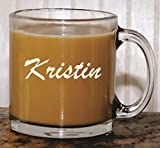 Personalized Glass Coffee Mug – Wedding Party Bridesmaid Teacher Mother's Day Housewarming Gifts – Custom Engraved Monogram Drinkware Glassware Barware Etched for Free Review
