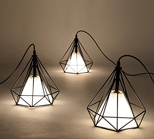 Diamond Shade Wrought Iron Pendant Lighting Battaa New - Wrought iron pendant lighting kitchen