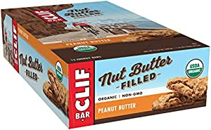CLIF Nut Butter Filled - Organic Energy Bar - Peanut Butter - (1.76 Ounce Protein Snack Bar, 12 Count)