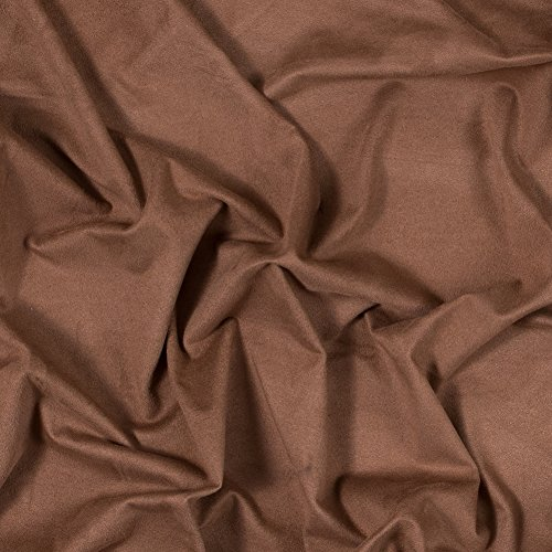 Lightweight Italian - Italian Tobacco Brown Lightweight Stretch Faux Suede