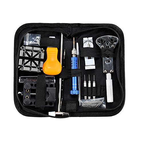 Watch Repair Kit Professional Tool - 112 PCS Watch Tool Set Opener Remover Watchband Link Pin Tools