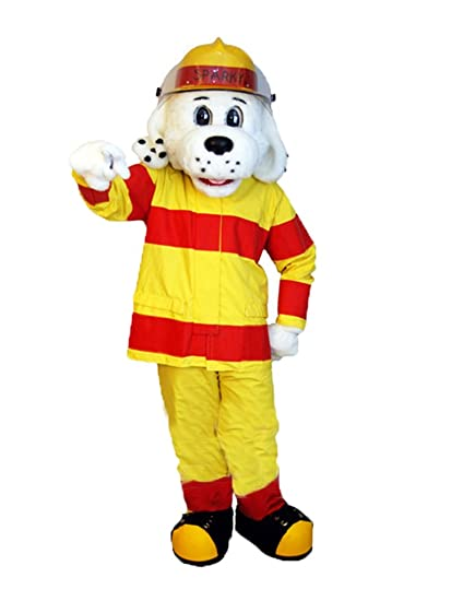 Rushopn Realistic Sparky The Fire Dog Mascot Costume Animal NFPA Suit