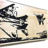 Valentines Day Gift For Men F-15 Strike Eagle Fighter Jet Military Decor Wood Sign Gift For Retirement