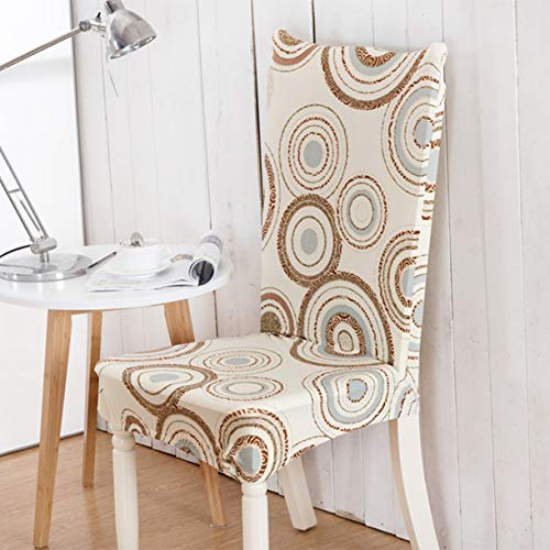 TANGOGO Universal Polyester Spandex Chair Covers Print Floral Seat Chair Cover Wedding Banquet Party Hotel Slipcovers Home Decoration ()