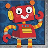 Club Pack of 192 Red and Yellow Party Robots Decorative Beverage Napkin 10''