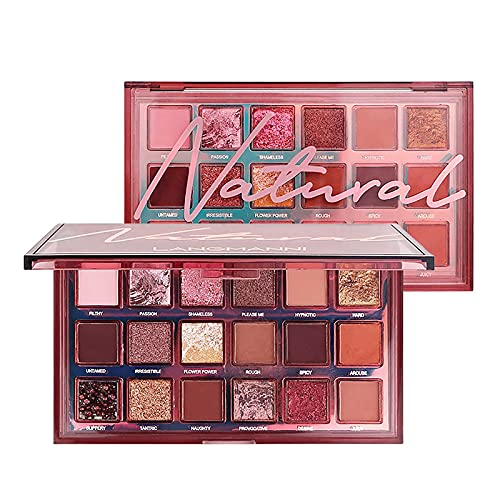 HXS Pearl Glitter Eye Shadow, Powder Matt Eyeshadow, Highly Pigmented Eye Makeup Palettes, Natural Blendable Long-Lasting Waterproof Small Pallets Eyeshadow, Cosmetics Gift Kit, 18 Colors