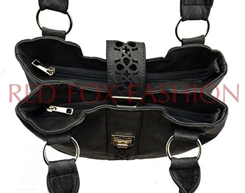 ALMOND LeahWard Light Weight Handbags Zip SHOULDER Shoulder Pockets Soft Designer 141101 Ladies Compartment BAG Fashion fwfr7S