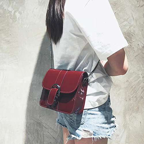 2018 Hang Chain Red tag FINIFLY Shoulder Bags Patent Women aizhiyi Handbag Messenger NEW Casual Crossbody Leather pgd1q