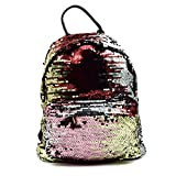 Ibeauti Cute Small Backpack Purse Bling Sequins Backpack School Bags for Teen Girls Women (Gold)