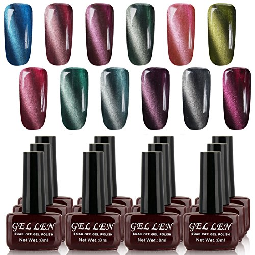 Gellen Magnetic 3d Cat Eye Collection Gel Polish 8ml Each 12