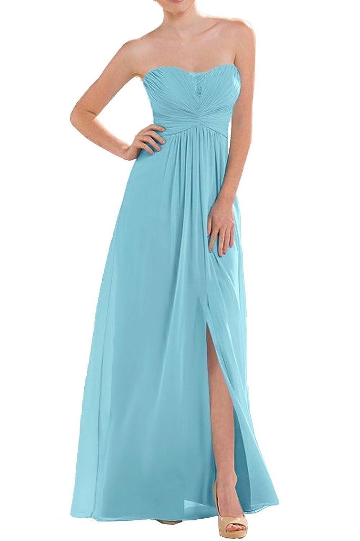 Prom Style Chiffon Traegerlos Brautjungferrnkleider Abendkleider ...