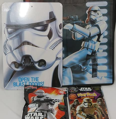 Star Wars Storm Trooper Tote Bag, Sign, Play Pack, and Puzzle on the Go (Disney Pin Grab Bag)