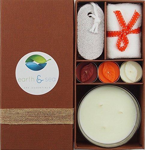 Earth & Sea Spa Essentials Aroma Candle Gift Set (Bowl Candle Set)