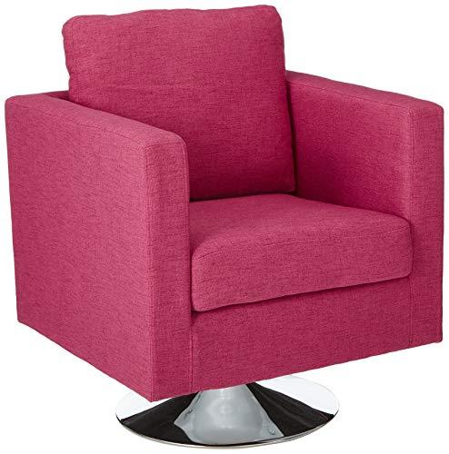 Christopher Knight Home 303894 Alice Modern Light Magenta Fabric Swivel Chair,