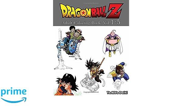 Amazon Dragon Ball Z Adult Coloring Book VoL1 5 Sketch 9781545459744 Yoshida Daiki Books