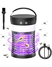 Mosquito Killer lamp,Portable Bug Zapper Light Bulbs & Camping Lantern, Waterproof Electric Mosquito Zapper Killer, 1800mAh USB Rechargable Battery, UV LED Insect & Fly Killer Bulb for Outdoor, Home, Bedroom, Kitchen, Office, Backyard, Patio, Tent, Camping Gear