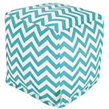 Majestic Home Goods Chevron Cube, Small, Teal